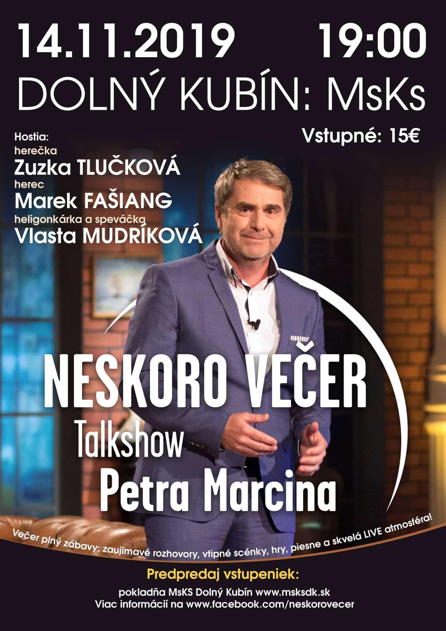Dolný Kubín Talkshow s P. Marcinom